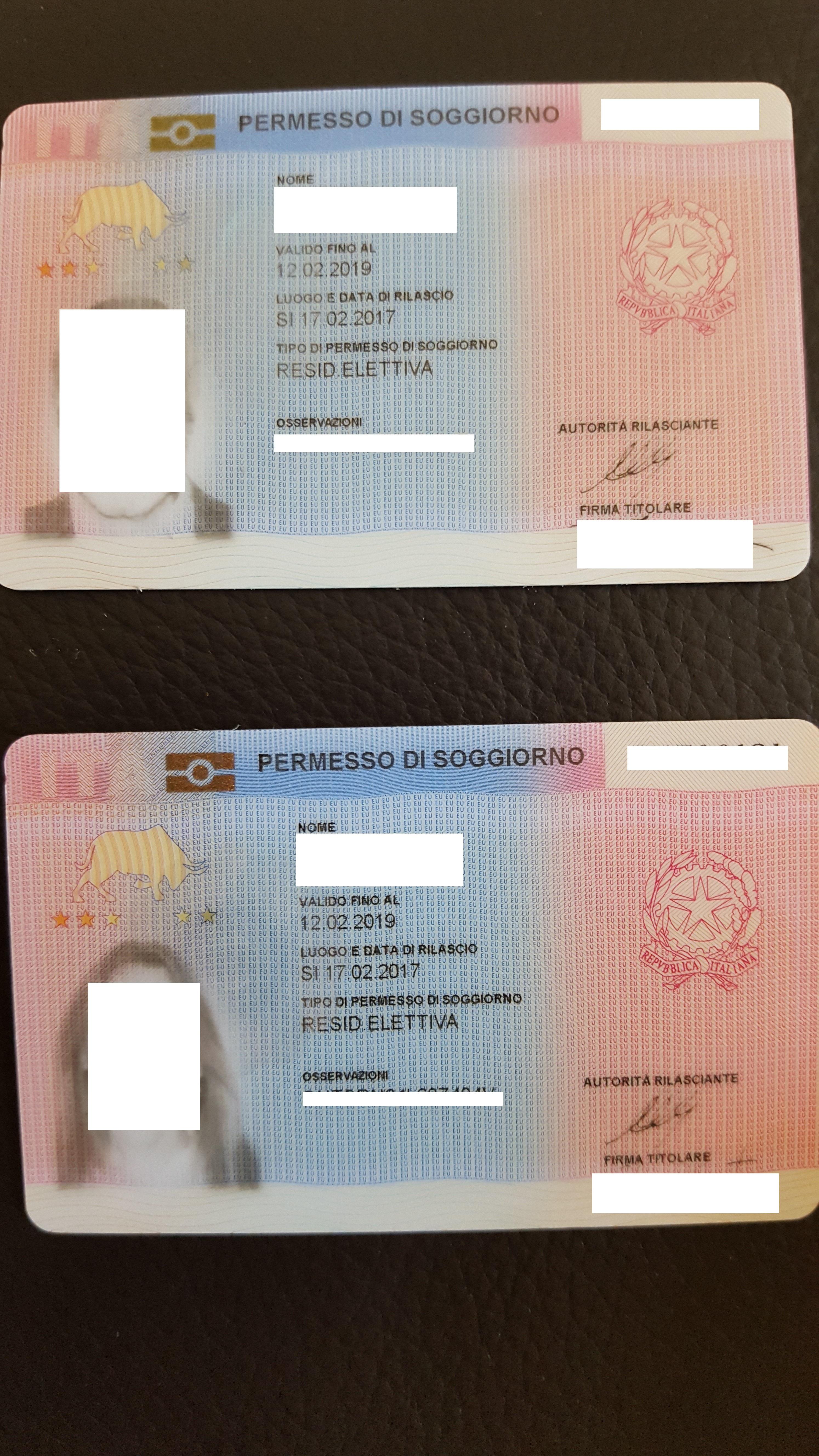 ITALIAN PERMIT TO STAY (Permesso di soggiorno) - Studio Legale Metta