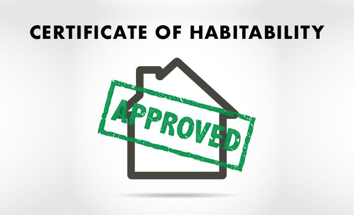 Certificate of habitability