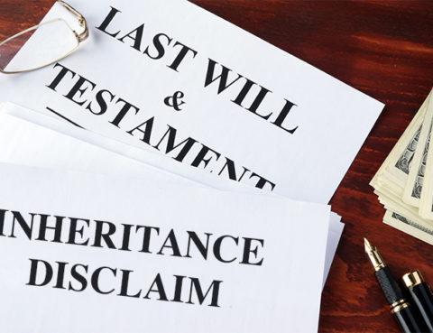 Inheritance disclaim
