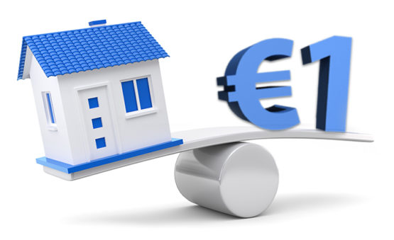 Italian properties for one euro