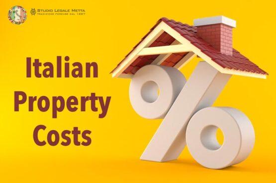 Italian property costs